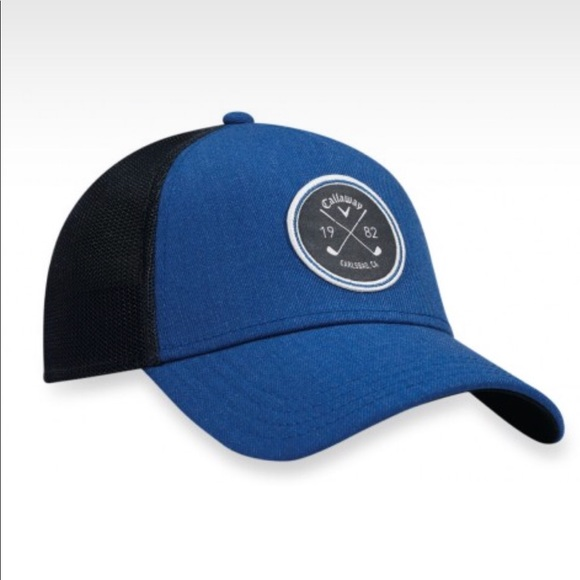 f901847897934 Callaway Golf SnapBack Trucker Hat- Royal Blue EUC